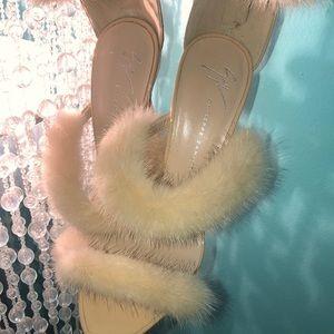 Giuseppe Zanotti 37 1/2 Fur Pumps